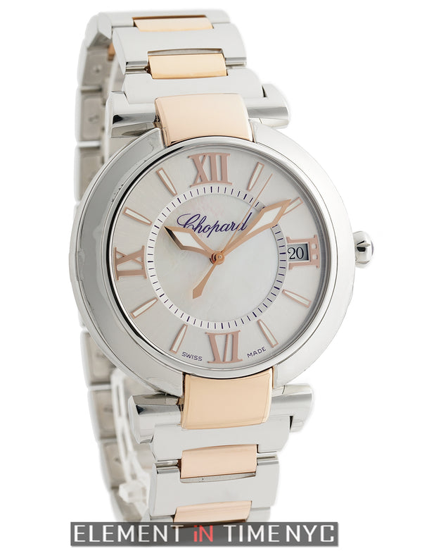 Steel & 18k Rose Gold 40mm Mother Of Pearl Dial