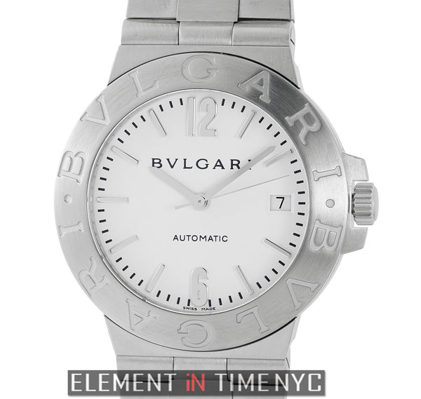 Stainless Steel 38mm White Dial Automatic