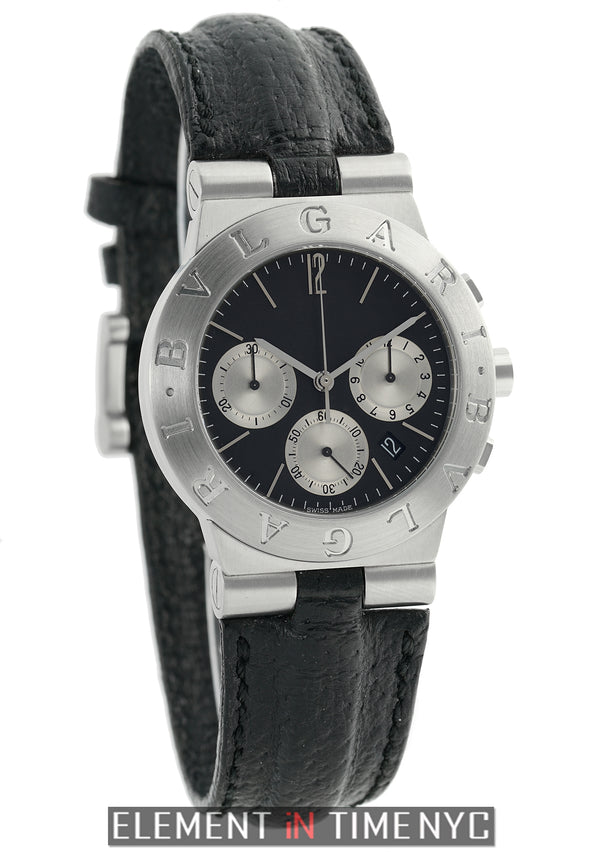 Chronograph Steel Black Dial 35mm
