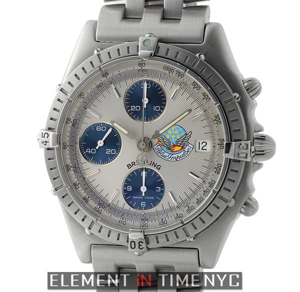 Blue Impulse Chronograph  Stainless Steel 39mm Silver Dial 1997