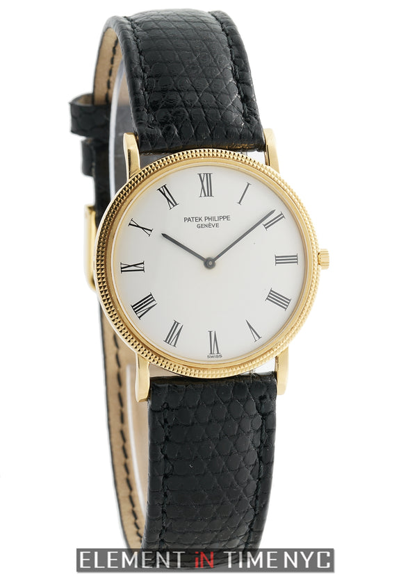 18k Yellow Gold 32mm White Crackled Dial