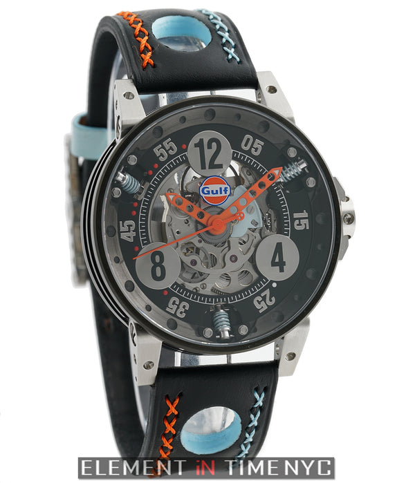 BRM Gulf Racing Gulf Racing Watch 44mm Black Dial V6-44