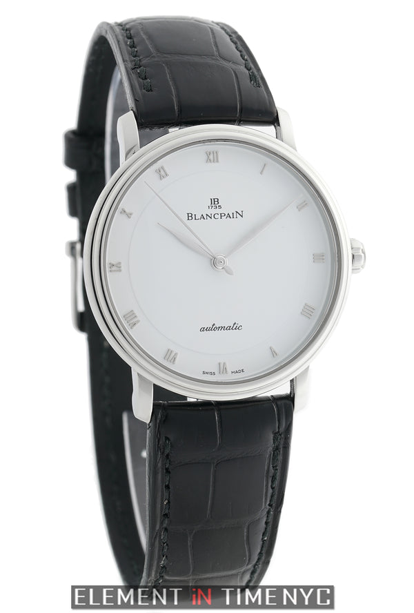 Ultra Slim Stainless Steel 38mm White Dial