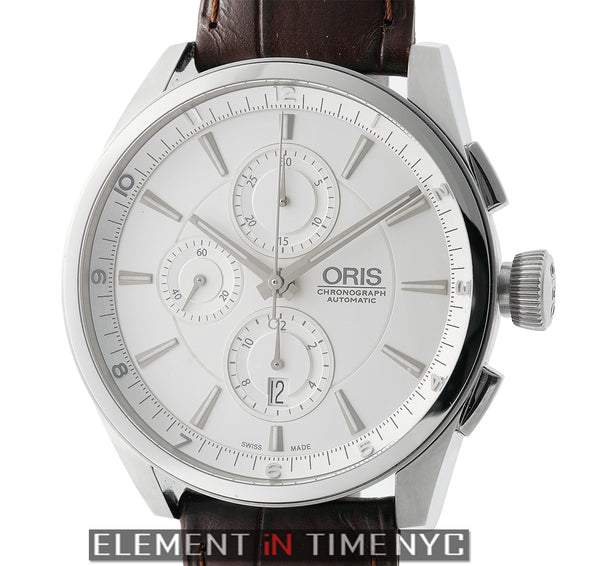 Chronograph Stainless Steel 44mm Silver Dial