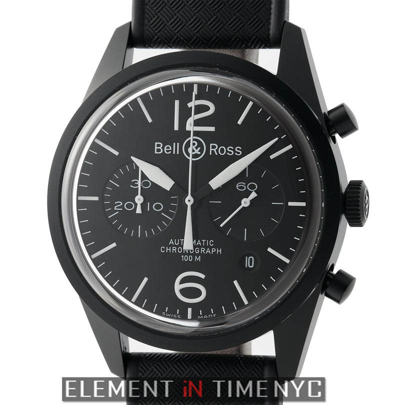 Chronograph PVD Coated Stainless Steel 42mm Black Dial