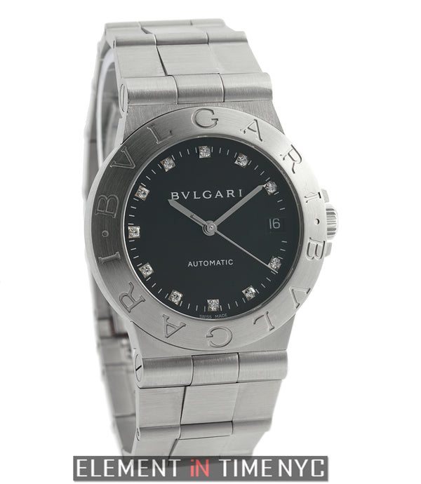 Stainless Steel 35mm Black Diamond Dial Automatic