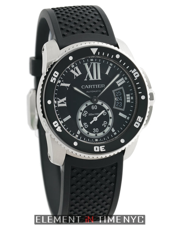 de Cartier Diver Steel Black Dial