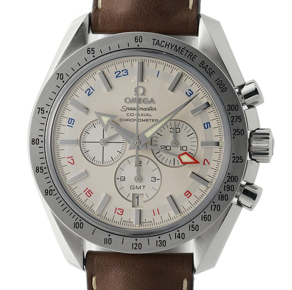 Broad Arrow GMT Chronograph Co-Axial Steel 44mm Silver Dial 2016