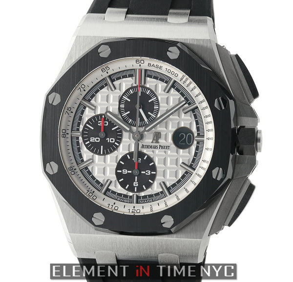 Chronograph 44mm Stainless Steel Silver Dial Ceramic Bezel