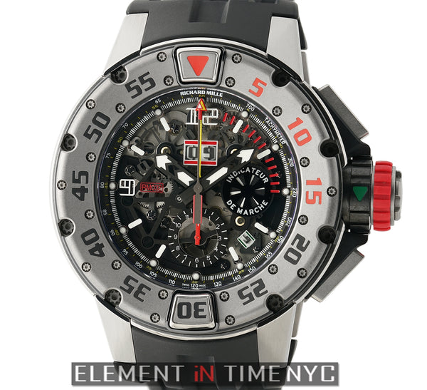 RM32 47mm Flyback Chronograph Diver Titanium Skeleton Dial