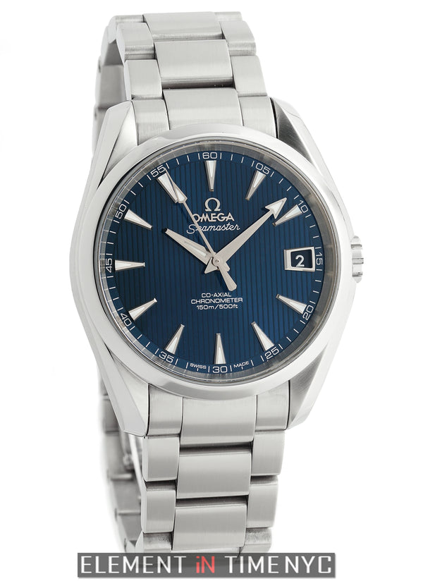 Aqua Terra 150 M Co-Axial Steel 39mm Blue Dial