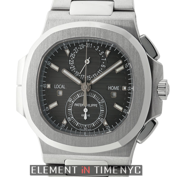 Travel Time Chronograph Stainless Steel 41mm Black Dial
