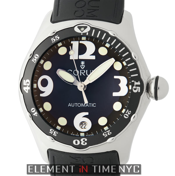 45mm Diver Stainless Steel Black Dial Automatic