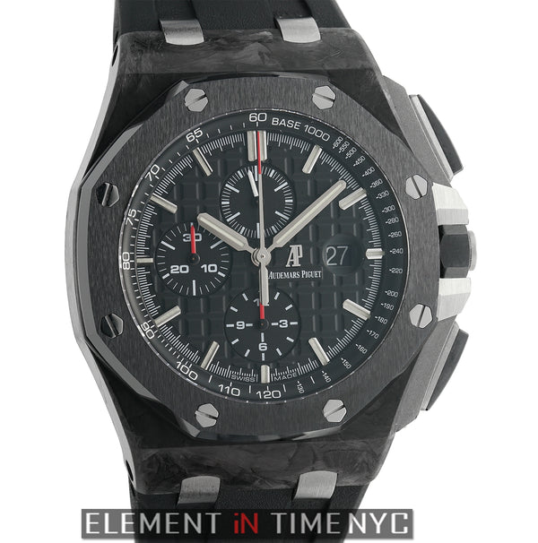 Chronograph Forged Carbon 44mm Ceramic Bezel Black Dial