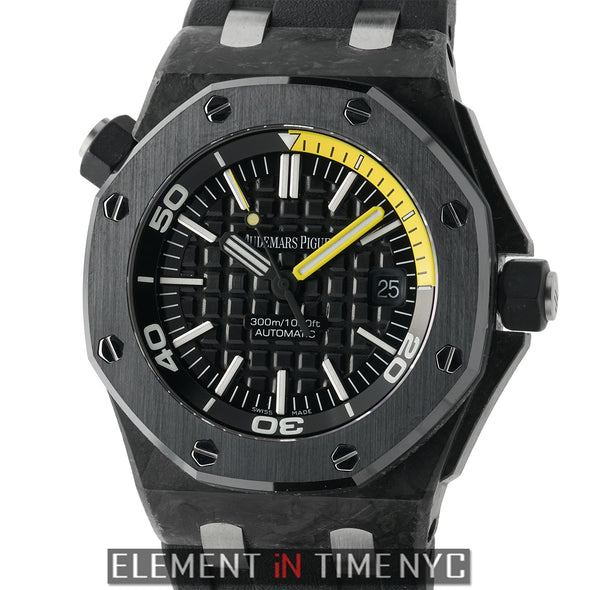 Diver Forged Carbon 42mm Ceramic Bezel Black Dial