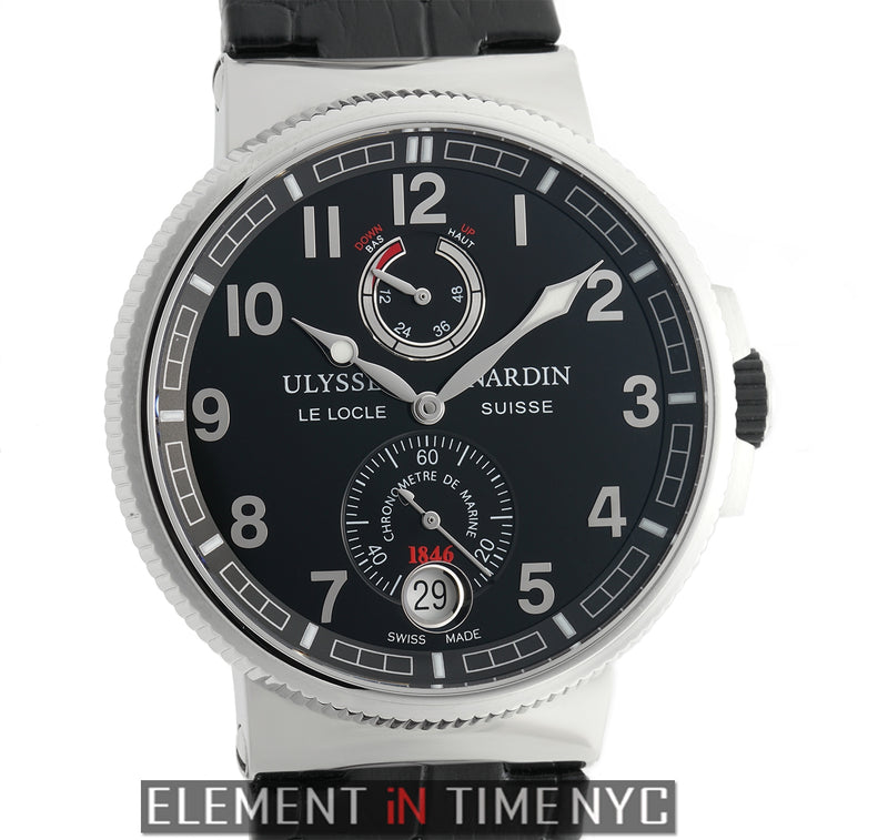 Chronometer Manufacture Stainless Steel 43mm Black Dial
