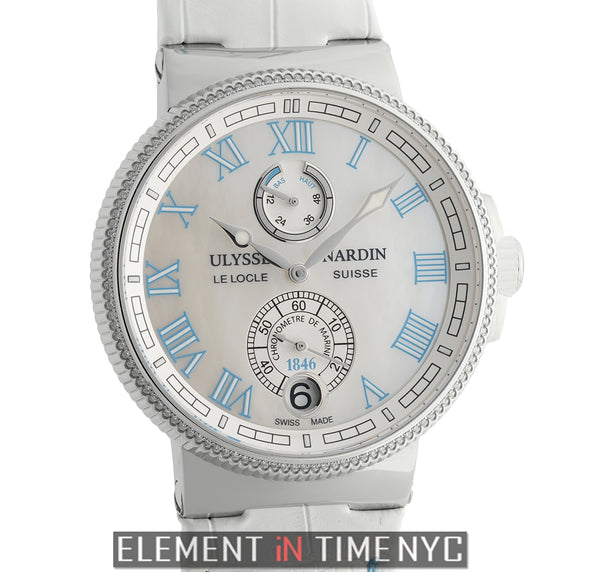 Chronometer Manufacture Ladies 43mm Diamond Bezel MOP Dial