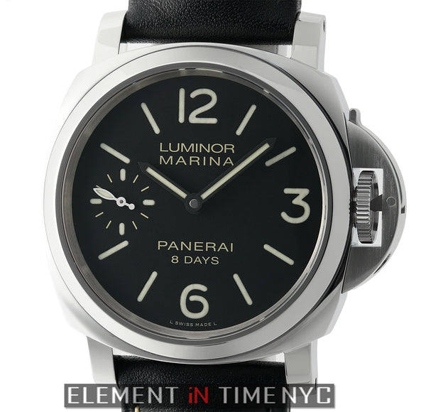 Luminor Marina 8 Days Steel 44mm Black Dial