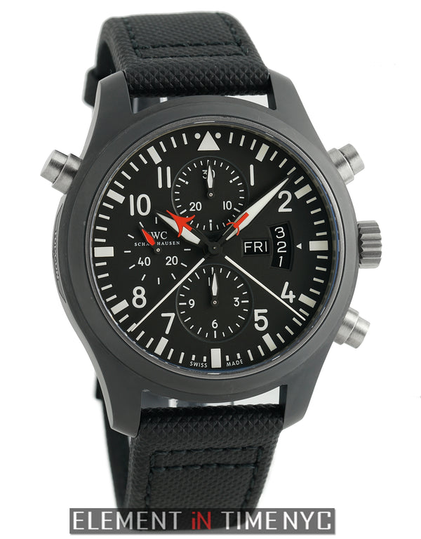 Top Gun Double Chronograph Ceramic 46mm