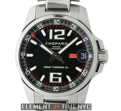 Gran Turismo XL Stainless Steel 44mm On Bracelet Black Dial