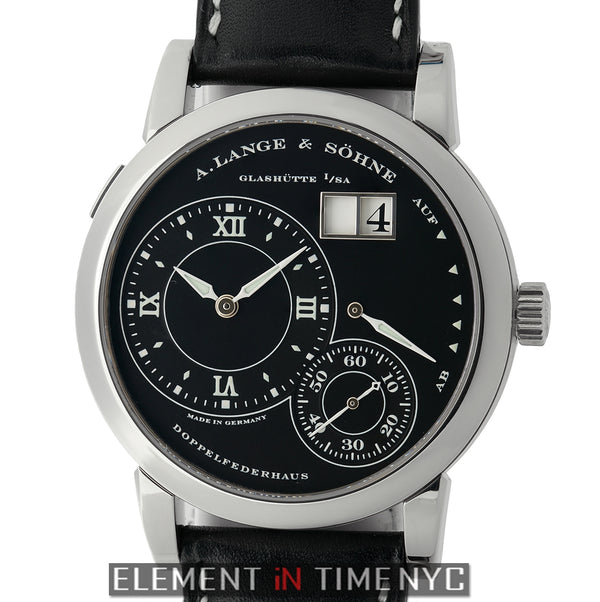 Grand Lange 1 Luminous Black Dial 18k White Gold 39mm