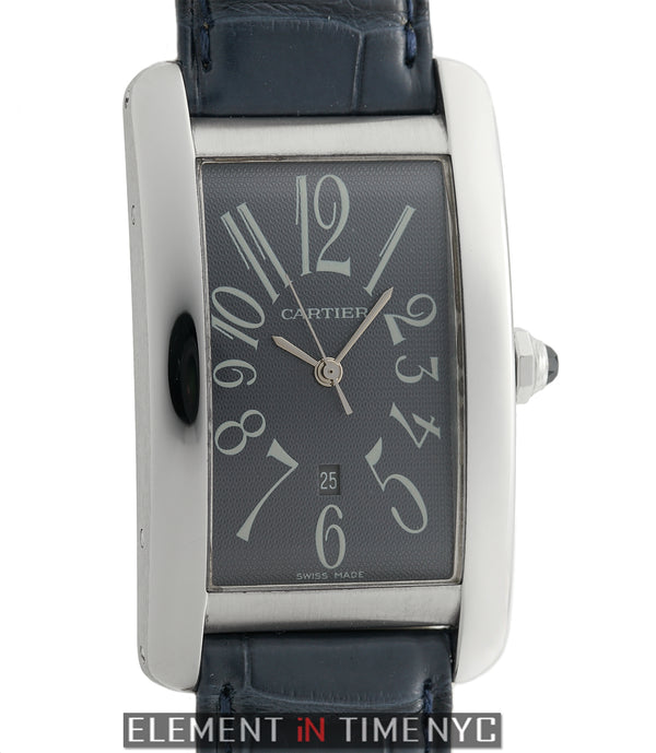Tank Americaine Large 27mm 18k White Gold Grey Dial 2002