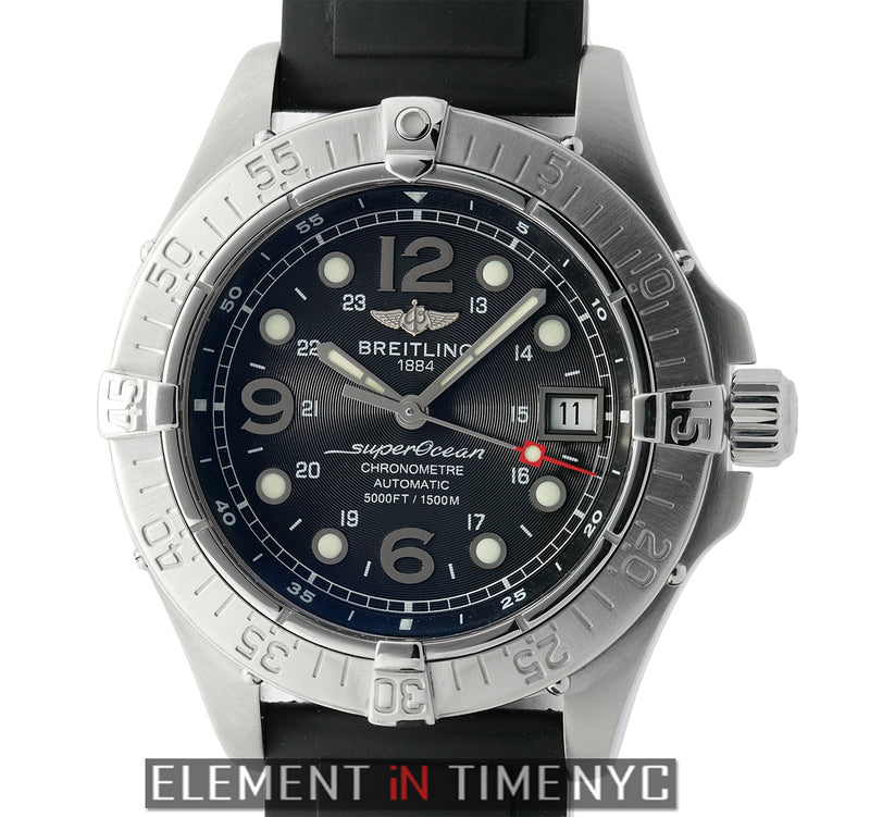 Stainless Steel 42mm Black Dial