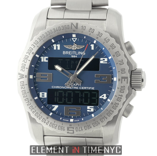 B50 Titanium 46mm Blue Dial On Professional III Bracelet