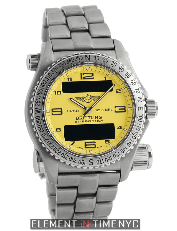 Titanium 43mm Yellow Dial