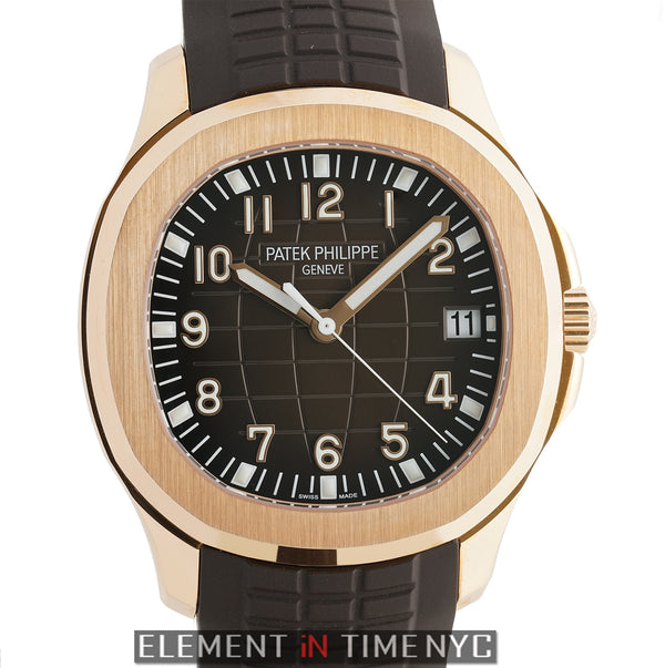 18k Rose Gold 40mm Brown Dial