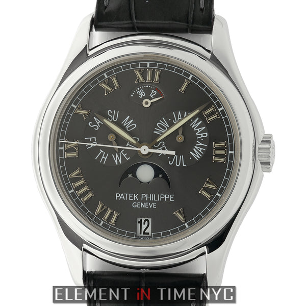 Annual Calendar Moonphase Power Reserve Platinum 37mm Grey Dial