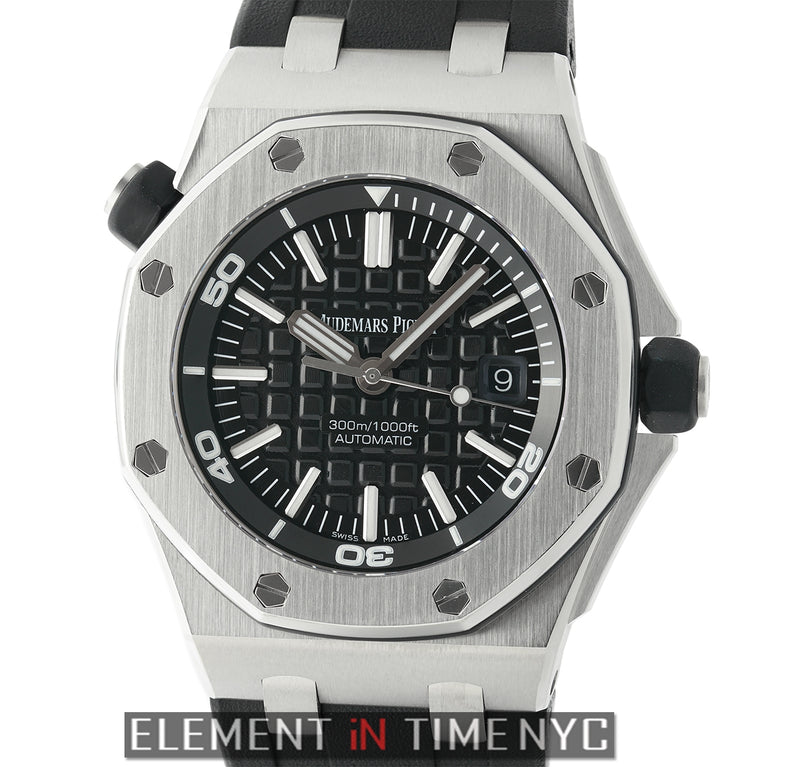Diver Stainless Steel 42mm Black Dial