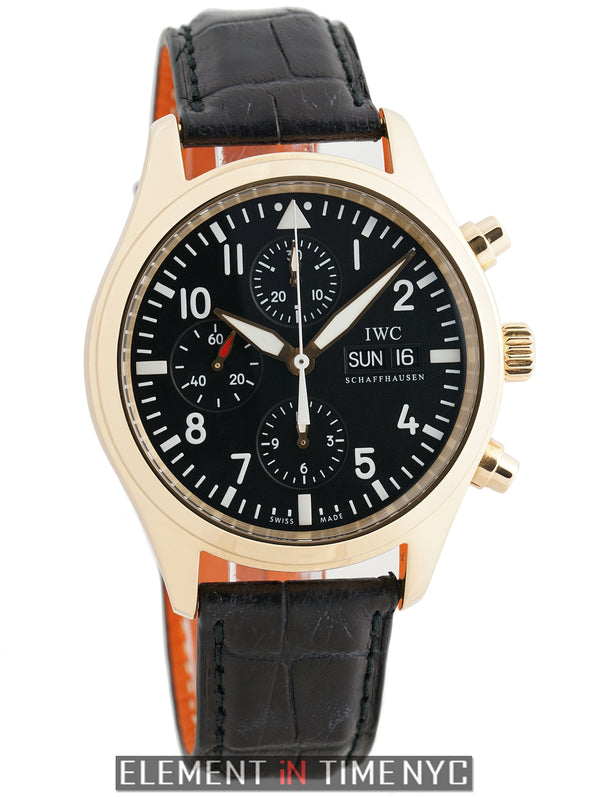 Pilot Chronograph 18k Rose Gold Black Dial Circa 2008