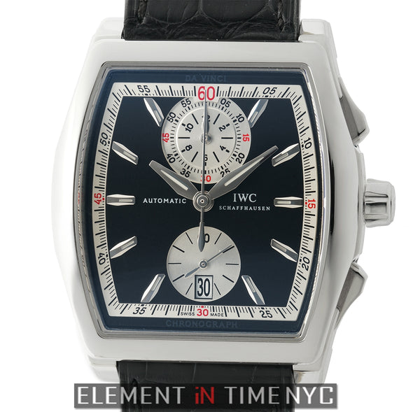 Tonneau Chronograph Stainless Steel 43mm Black Dial