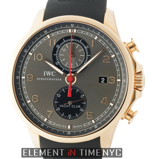 Yacht Club Chronograph 18k Rose Gold Black Ardoise Dial