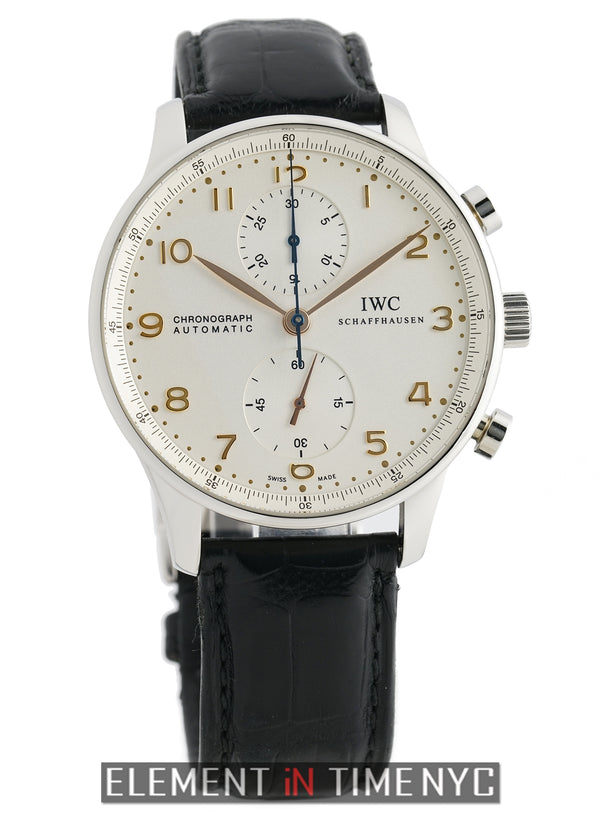 Chronograph Stainless Steel Silver Dial Gold Numerals
