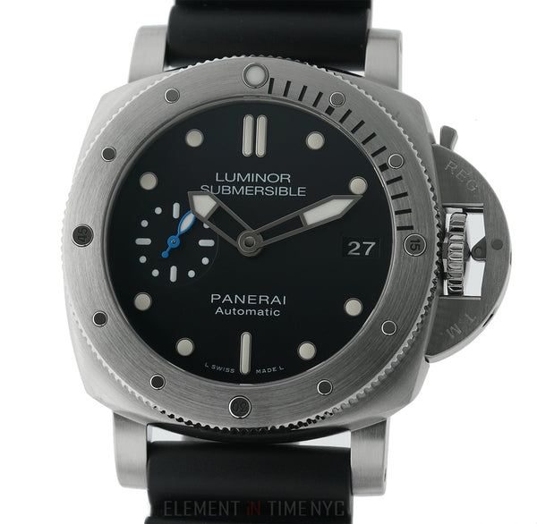 Luminor Submersible 1950 3 Days 42mm Steel Black Dial