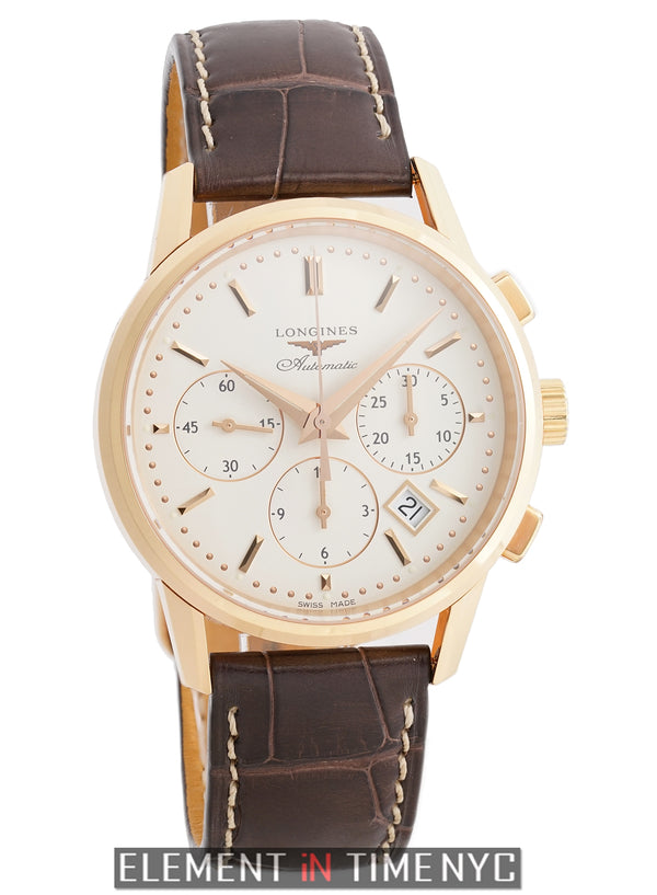 Chronograph 18k Rose Gold 40mm Off-White Dial