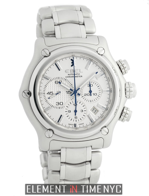 BTR Chronograph Stainless Steel 45mm Silver Dial