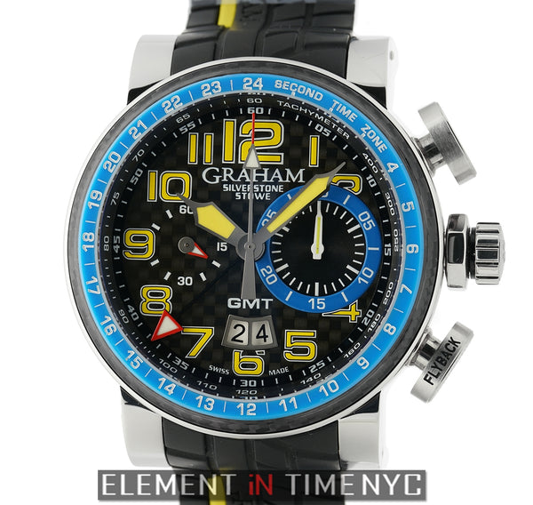 Stowe GMT Chronograph Steel 48mm Blue & Yellow LTD XXX/250
