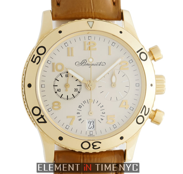 Type XX Transatlantique Chronograph 18k Yellow Gold Ivory Dial