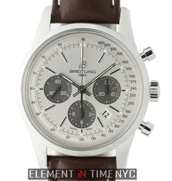 01 Chronograph Steel 43mm Silver Dial On Leather & Deployment