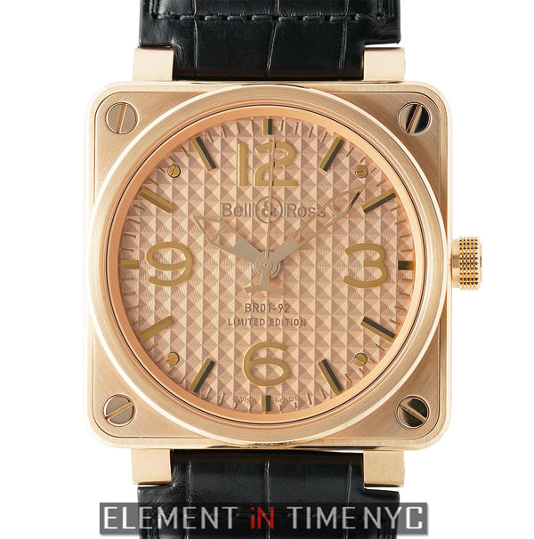 Gold Ingot 18k Rose Gold 46mm Rose Gold Dial LTD ED 2016