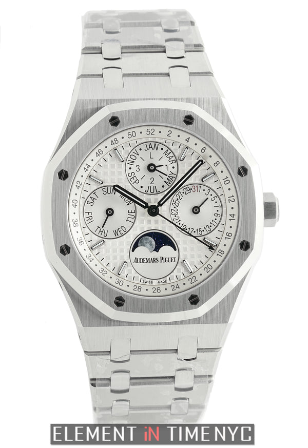 Perpetual Calendar 41mm Stainless Steel Silver Dial