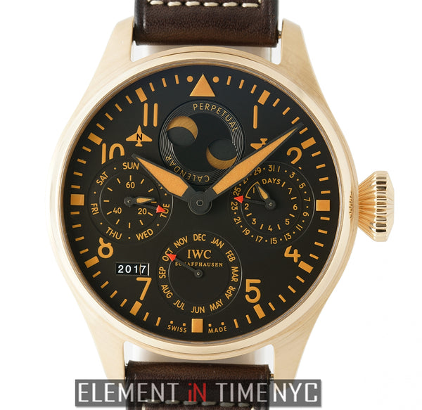 Big Pilot 18k Rose Gold Perpetual Calendar Bucherer LTD ED  XXX/250