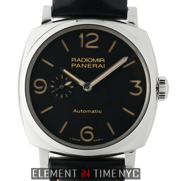 Radiomir 1940 3 Days Steel 45mm Black Sandwich Dial Q Series