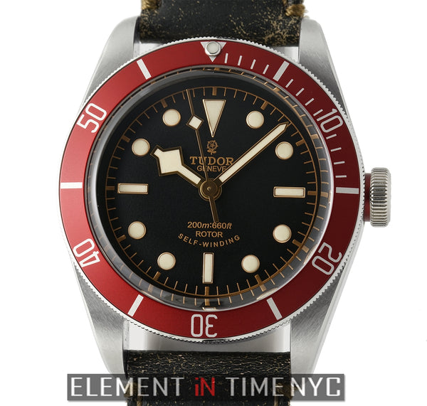 Black Bay Red Bezel Black Dial 41mm ETA Movement 2016