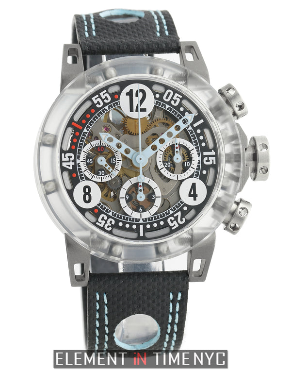 Super-Light Range Chronograph Makrolon 44mm Skeleton Dial