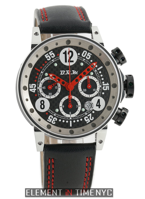 Chronograph Steel 44mm Black Carbon Fiber Dial