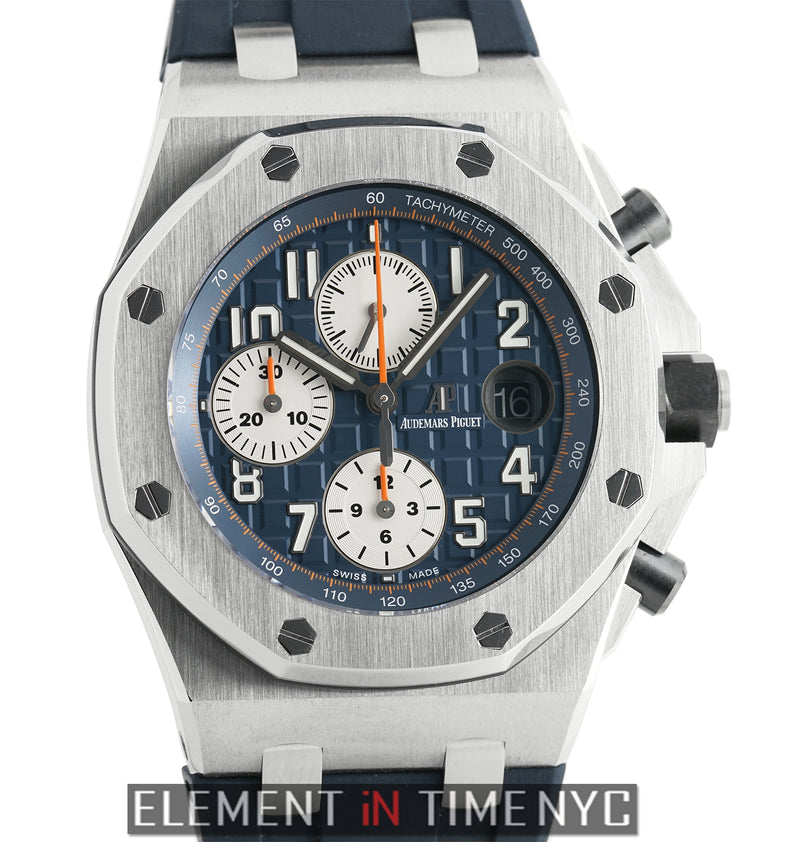 Chronograph Stainless Steel 42mm Blue Dial